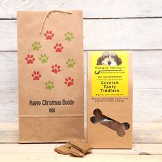 personalised luxury dog treats christmas bag by red berry apple | notonthehighstreet.com