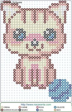 gato madeja EN HAMA BEADS PATRON Barbie, Perler Beads, Bead Crafts, Diy And Crafts, Pearler Bead Patterns, Beaded Animals, Creative Crafts, Beading Patterns, Pixel Art