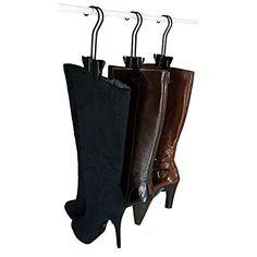 Whitmor 6196-4342 3 Pair Boot Organizer, Black/Silver