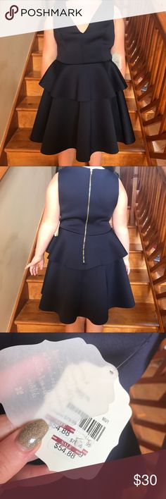 Size Small Altar'd State Navy V Cut Dress Size Small, brand new, with tags. From the brand Altar'd State. Deep V Cut dress. Navy. Altar'd State Dresses Mini