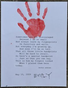 my little handprints poem | This handprint poem is an excellent reminder of how quickly ... | Val ...