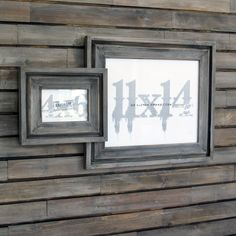 picture frames in driftwood gray cove style