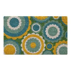 Like this doormat too - nice pop of color for the gray house. $17.95