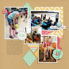Daily Life Week 21 Daily Life Templates 6 by Scrapping with Liz Life's a Beautiful Ride by Tickled Pink Studio
