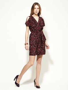 Tally Printed Wrap Front Dress from Cynthia Steffe Seamline