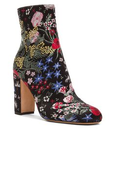 Image 2 of Valentino Camu Garden Jacquard Booties in Black