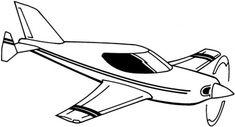 Airplane Flying Coloring Page