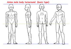 Anime male body turnaround by ~Yumezaka on deviantART