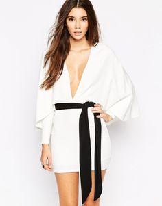 Oh My Love Kimono Sleeve Contrast Dress