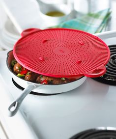 Take a look at this Red Silicone Splatter Screen by Trudeau on #zulily today!