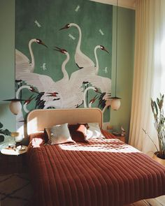 Home Interior Inspiration .Home Interior Inspiration Home Design, Bed Design, Design Ideas, Decoration Bedroom, Art Deco Bedroom, Art Decor, Home And Deco, Home Interior, Studio Interior