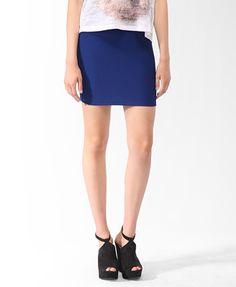 $7.50 Rib Knit Bodycon Skirt | FOREVER21 - 2000049293