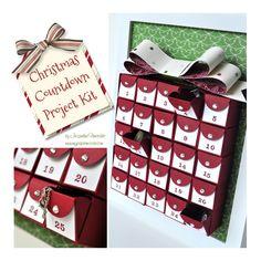 Christmas Countdown Advent Calendar Project Kit
