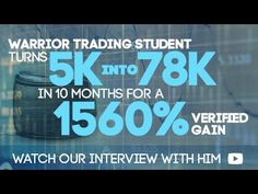 Warrior Trading Student turns $5k into $78k in 10 months Stock Options, How To Become, Stress, Student, Awesome, Check, Youtube, Be Awesome, College Students