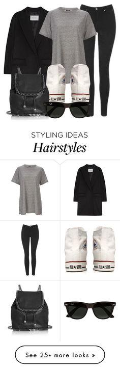 """Style #11764"" by vany-alvarado on Polyvore featuring MaxMara, Calvin Klein, Topshop, Converse, STELLA McCARTNEY and Ray-Ban"