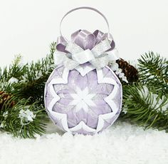 Christmas Quilted Ornament - Craft ~ Your ~ Home Christmas Activities For Kids, Kids Christmas, Christmas Crafts, Quilted Christmas Ornaments, Christmas Baubles, Folded Fabric Ornaments, Ornament Crafts, Christmas Photo Cards, Homemade Crafts