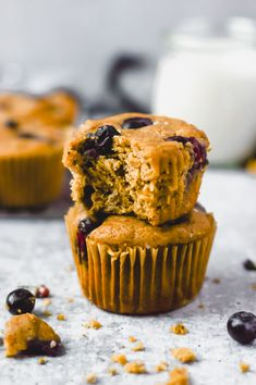 Lemon blueberry paleo muffins that are sweet enough for dessert & wholesome enough for a nutrient dense breakfast! Paleo Blueberry Muffins, Gluten Free Muffins, Baking With Almond Flour, Baking Flour, Healthy Muffin Recipes, Healthy Desserts, Paleo Dessert, Dessert Recipes, Honey Recipes
