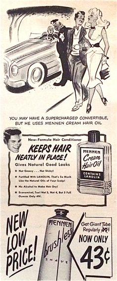 Mennen Cream Hair Oil.