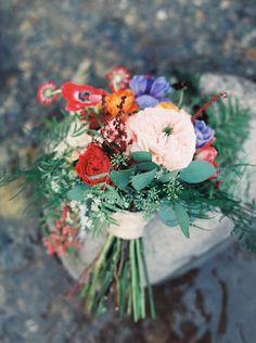 #anemone  Photography: Rebecca Hollis - rebeccahollis.com/  Read More: http://www.stylemepretty.com/2014/12/10/bohemian-montana-lodge-wedding/