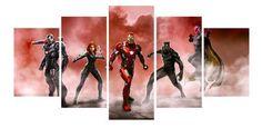 Avengers Print Wall Art -  5 Pieces (Unframed)  Available Sizes (1inch = 2.54cm):   50cm x 25cm  10cmx15cmx2 + 10cm x 20cm x 2 + 10cm x 25cm   100cm x 50cm  20cm x 30cm x 2 + 20cm x 40cm x2 + 20cm x 50cm            150cm x 80cm  30cm x 40cm x 2 + 30cm x 60cm x 2 + 30cm x  80cm            200cm x 100cm  40cm x 60cm x 2 + 40cm x 80cm x 2 + 40cm x 100cm