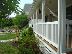 Standard 24 Rail vinyl porch railings. Porch Railings, Vinyl Railing, Aesthetic Value, Stairs, Outdoor Decor, Home Decor, Stairway, Decoration Home, Staircases