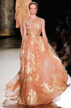 Maud Welzen in Elie Saab Fall 2012 Couture