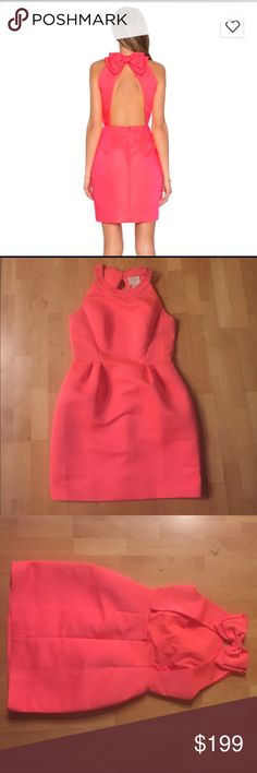Reasonable offers accepted Kate Spade Bow Dress Brand new Kate Spade bow back cupcake dress. Gorgeous bright coral. A playful bow above the large back baring keyhole adds a signature Kate Spade touch to the darling design. Brand new with tags kate spade Dresses