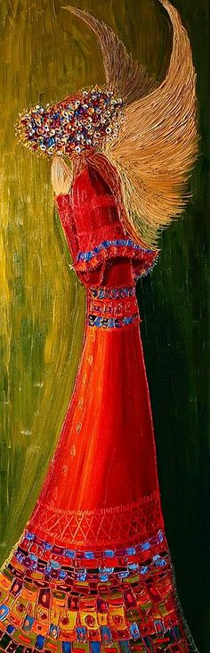 For Theresa, you angel. Angel... Painting, byJustyna Kopania,