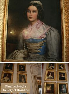 King Ludwig I's Gallery of Beauties, Nymphenburg Palace, Munich • Germany Travel Blog Tourist is a Dirty Word