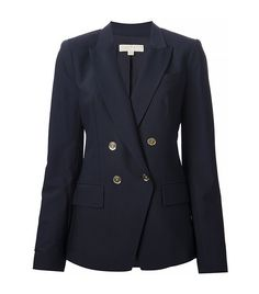 Double Breasted Blazer via @WhoWhatWear