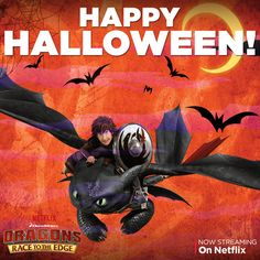 Trick or Treating is always better with your best friend! Happy Halloween from the dragon riders! #DreamWorksDragons