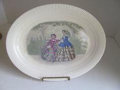 Godey Prints Platter Women Platter Antique by ReVintageLannie