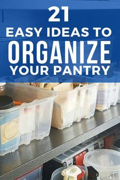 Whether you have a small pantry or closet, check out these pantry organization hacks and ideas that will make your life easier. These cheap ways to organize your pantry are easy and cheap if you're on a budget. So check out these 21 best ways to organize your pantry. #pantryhacks #pantryorganization #pantrystorage Kitchen Pantry Storage Cabinet, Corner Pantry, Pantry Shelving, Pantry Organization, Built In Pantry, Small Pantry, Pallet Pantry, Pantry Storage Containers, White Pantry