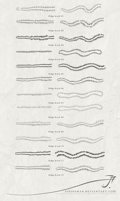 JS Cartography - ridges 1 brushes by SirInkman.deviantart.com