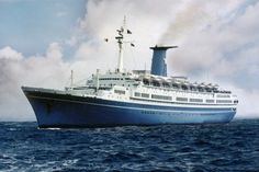 MS Angelina Lauro (MS Oranje) - passenger liner, a wartime hospital ship and finally a cruise ship that was burnt out and subsequently lost while being towed for scrap. She sank in a storm in the mid-Pacific, on Sep 24, 1979