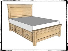 ana white build a farmhouse storage bed with drawers twin and full free and easy diy project and furniture plans kids bedroom tutorials pinterest