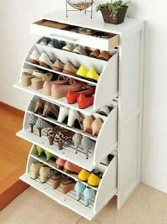 Perfect space saver for shoes :-)