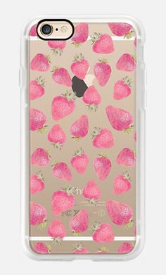 Casetify iPhone 7 Case and Other iPhone Covers - Pink strawberry pattern by MARTA OLGA KLARA | #Casetify
