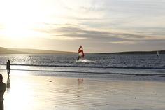 Sunset windsurfing Windsurfing, Water Sports, Kayaking, South Africa, Cape, Sunset, Mantle, Kayaks, Cabo