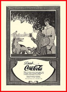 1917 DRINK Coca-Cola    'When the keen zest of sport gives way to fatique . . .