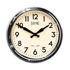 50's Electric Wall Clock  Polished Aluminum  Newgate Clocks #horne