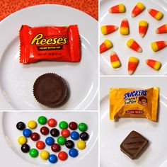 Photos of 100 Calories of Halloween Candy.. You can see how you could easily eat double your daily calories if you're not careful!