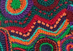 Surface Embellishments | Renate Kirkpatrick's Freeform Crochet~Knit~Fibre Designs. The best of freeform crochet!