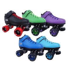 Riedell Dart Quad Roller Derby Speed Skates with Matching Laces by Riedell. Totally have them in light blue <3