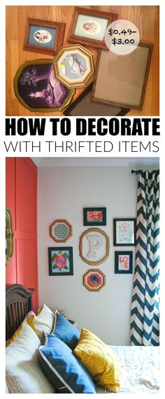 Decorating a home doesn't have to be expensive. Learn how to create a beautiful home using thrifted items!