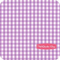 Medium Cotton Gingham Lavender Yardage<BR>SKU# C450-120