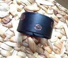 Embossed Deer Tracks Leather Cuff Bracelet  by GratifyDesign, $20.00