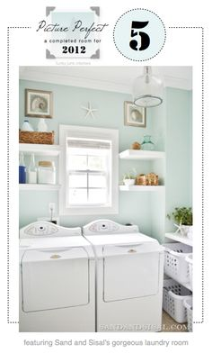 FULL ROOM MAKEOVERS #5, featuring Sand & Sisal's laundry room, via Funky Junk Interiors