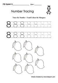 Number Worksheets, Activity Sheets for kids, Printable Number Worksheets