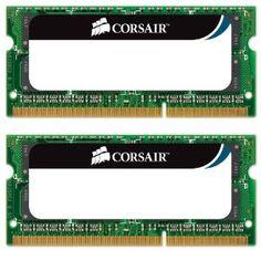Corsair 8GB (2x 4GB) 1333mhz PC3-10666 204-pin DDR3 SODIMM Laptop Memory Kit CMSO8GX3M2A1333C9 --- http://www.amazon.com/Corsair-1333mhz-PC3-10666-204-pin-CMSO8GX3M2A1333C9/dp/B002YUF8ZG/?tag=pinterest1061-20